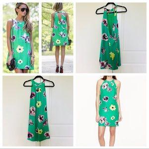 JCrew punk floral circle neck swoop dress